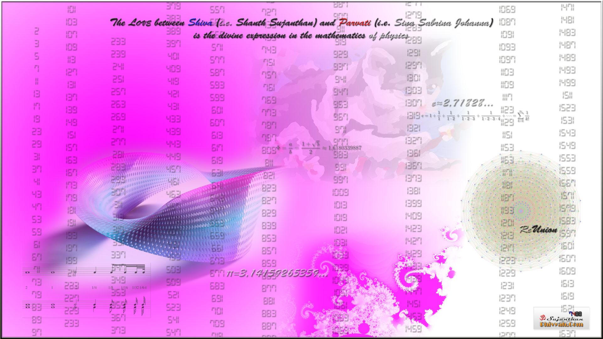 Die Liebe zwischen Shiva (das ist Shanth Sujanthan) und Parvati (das ist Sina Sabrina Johanna) ist der göttliche Ausdruck in der Mathematik (der Physik).