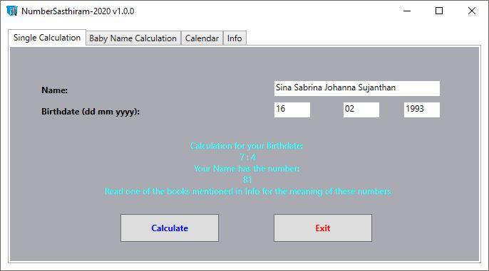 NumberSasthiram v2020 (non released Version)